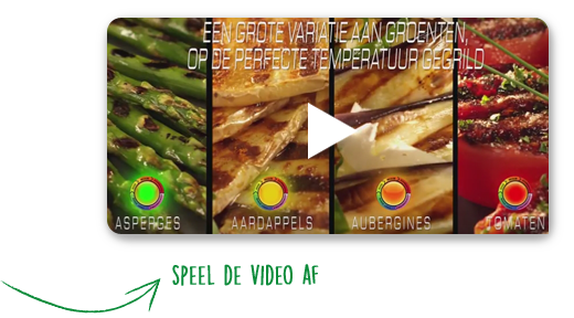 A large variety of vegetables grilled at their optimal temperature level | Speel de video af
